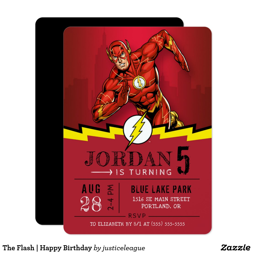 The Flash   Happy Birthday Invitation