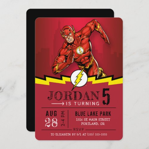 The Flash | Happy Birthday Invitation
