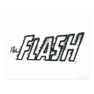 The Flash Letters Grunge Postcard
