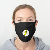 The Flash   Lightning Bolt Black Cotton Face Mask