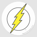 The Flash | Lightning Bolt Classic Round Sticker at Zazzle