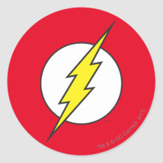 The Flash | Lightning Bolt Classic Round Sticker at Zazzle