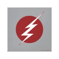 The Flash | Lightning Bolt Logo Canvas Print