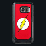 "The Flash | Lightning Bolt OtterBox Samsung Galaxy S7 Case<br><div class=""desc"">The iconic Flash Lightning Bolt Logo; a yellow lighting bolt running through a white circle on his classic bright red colored background.</div>"