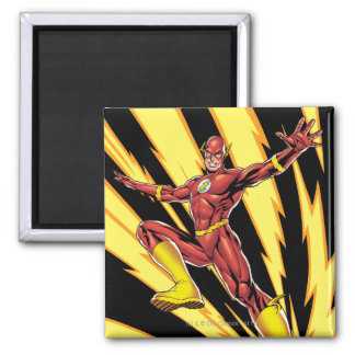 The Flash Lightning Bolts 2 Inch Square Magnet