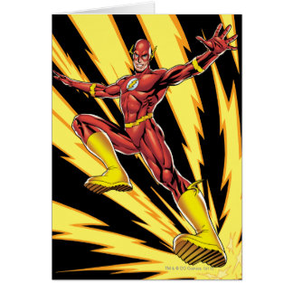 The Flash Lightning Bolts Card