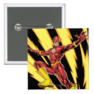 The Flash Lightning Bolts Pinback Button