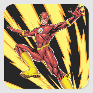 The Flash Lightning Bolts Square Stickers