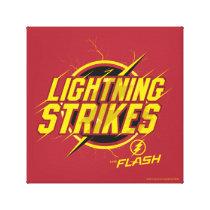 "The Flash | ""Lightning Strikes"" Graphic Canvas Print"