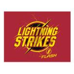 "The Flash | ""Lightning Strikes"" Graphic Postcard"
