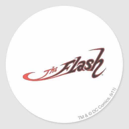 The Flash Logo Red Classic Round Sticker