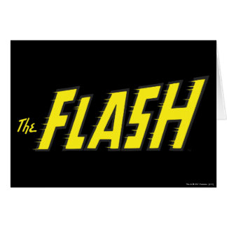 The Flash Logo Yellow Card