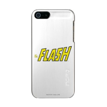 The Flash Logo Yellow Metallic Phone Case For iPhone SE/5/5s