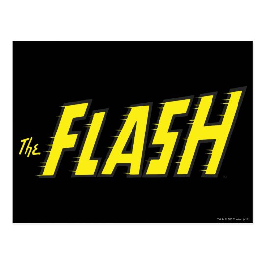 The Flash Logo Yellow Postcard