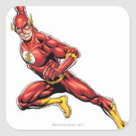 The Flash Lunging Square Sticker