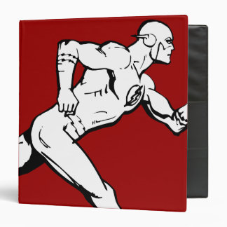 The Flash Running Outline 3 Ring Binder