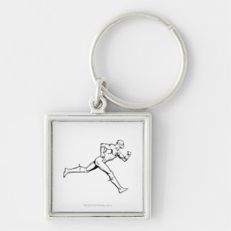 The Flash Running Outline Keychain