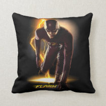 The Flash | Sprint Start Position Throw Pillow