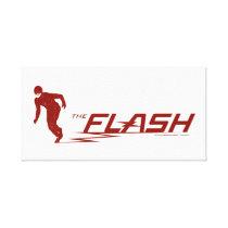 The Flash | Super Hero Name Logo Canvas Print