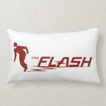 The Flash | Super Hero Name Logo Lumbar Pillow