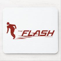 The Flash | Super Hero Name Logo Mouse Pad