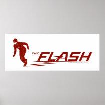 The Flash | Super Hero Name Logo Poster