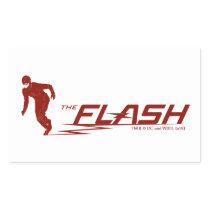 The Flash | Super Hero Name Logo Rectangular Sticker