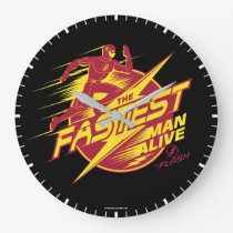 The Flash | The Fastest Man Alive Large Clock