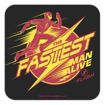 The Flash | The Fastest Man Alive Square Sticker