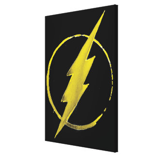 The Flash | Yellow Chest Emblem Canvas Print