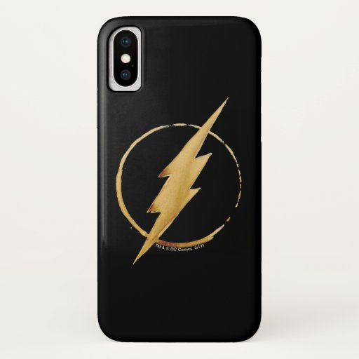 The Flash | Yellow Chest Emblem iPhone X Case