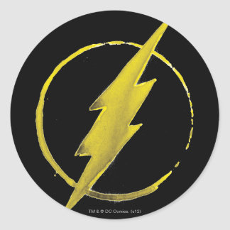 The Flash | Yellow Chest Emblem Classic Round Sticker