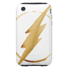 The Flash | Yellow Chest Emblem Iphone 3 Tough Cover at Zazzle
