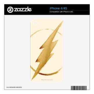 The Flash | Yellow Chest Emblem iPhone 4 Decal