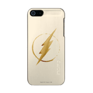 The Flash | Yellow Chest Emblem Metallic Phone Case For iPhone SE/5/5s