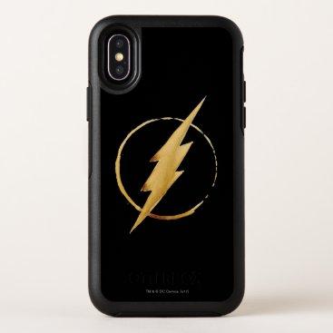 The Flash | Yellow Chest Emblem OtterBox Symmetry iPhone X Case