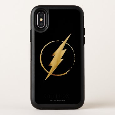 The Flash | Yellow Chest Emblem OtterBox Symmetry iPhone X Case