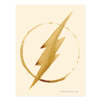 The Flash   Yellow Chest Emblem Postcard