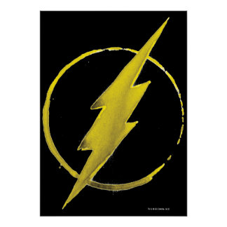 The Flash | Yellow Chest Emblem Poster