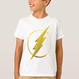 The Flash   Yellow Chest Emblem T-Shirt