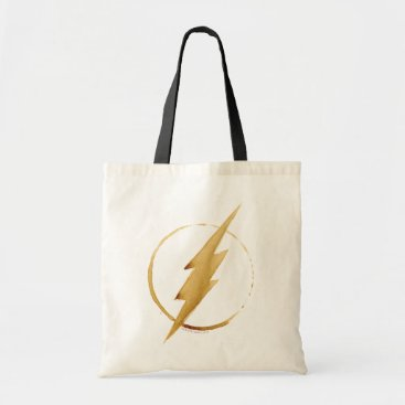 Coffee Themed The Flash | Yellow Chest Emblem Tote Bag