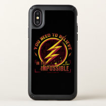 The Flash | You Need To Believe In The Imposible Speck iPhone X Case