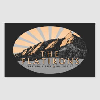 The Flatirons, Chautauqua Park, Boulder Stickers