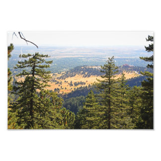 The Flatirons Looking down on Boulder Photo Print