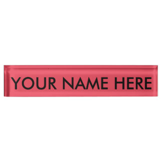 THE FLAVOR OF FRUIT: WATERMELON PINK (solid color) Desk Nameplates