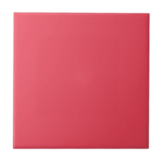 THE FLAVOR OF FRUIT: WATERMELON PINK (solid color) Small Square Tile