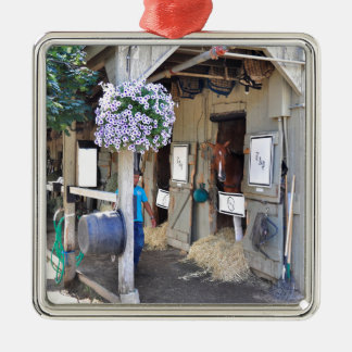 """The Flaxen """"All Included"""" Metal Ornament"""