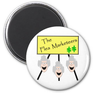 The Flea Marketeers 2 Inch Round Magnet