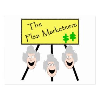 The Flea Marketeers Postcard