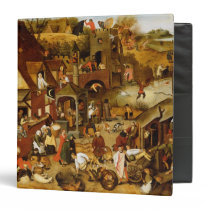 The Flemish Proverbs 3 Ring Binder